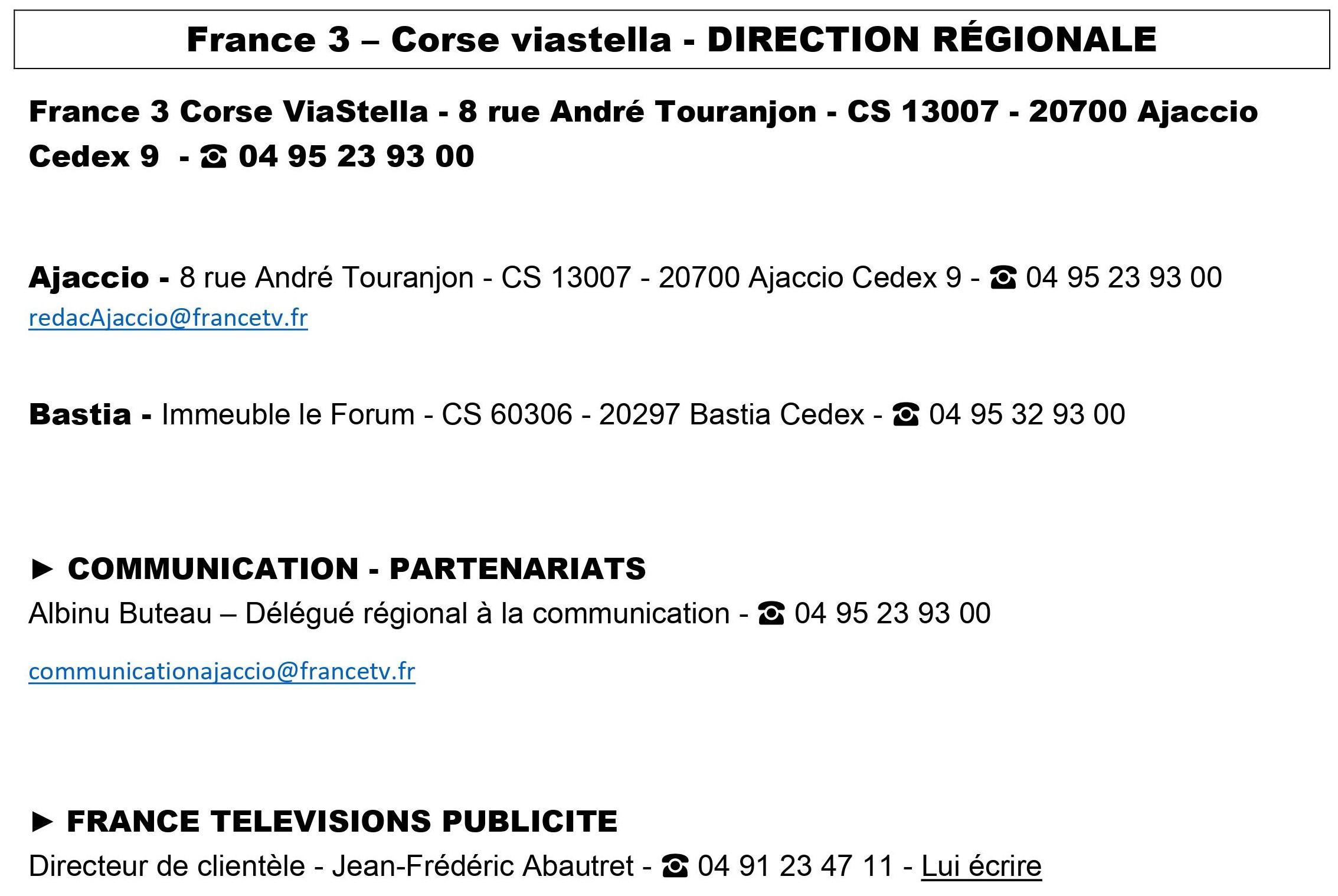 France 3 Corse Viastella
